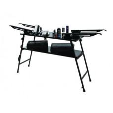 Stôl na voskovanie bežeckých lyží pre dve lyže